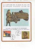 La Campagne Des 18 Jours De Mai 1940 - De 18-daagse Veldtocht Van Mei 1940. 12/5/1990. - Souvenir Cards