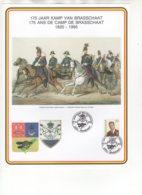 175 Ans De Camp De Brasschaat - 175 Jaar Kamp Van Brasschaat 1820-1995. 17/6/1995. - Souvenir Cards