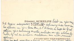 Visitekaartje - Carte Visite - Pastoor Désiré Schelpe - Velsique Ruddershove - Cartes De Visite