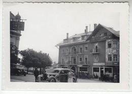 ALBERGO HOTEL SAN MARCO CORTINA D'AMPEZZO CON AUTO ALFA ROMEO - FOTO ORIGINALE 1930/40 - Lugares
