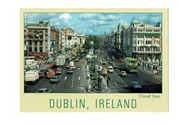 Cpa - Ireland Dublin - O'Connell Street - Voiture Autobus Camion - Publicité Bouteille Alcool BAILEY'S Irish Cream 1989 - Dublin