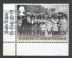 Great Britain 2018. Scott #3700 (U) Women Suffrage, Cent. * - 1952-.... (Elizabeth II)
