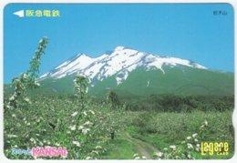 JAPAN C-144 Kansai Card - Landscape, Mountain - Used - Andere Sammlungen