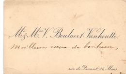 Visitekaartje - Carte Visite - M. & Mme V. Boulaert - Vanhoutte - Mons - Cartes De Visite