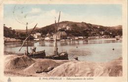 ALGERIE  PHILIPPEVILLE  Débarquement De Sables  .... - Skikda (Philippeville)
