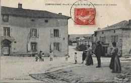 CPA. COMPREIGNAC. ROUTES DE NANTIAT, AMBAZAC, LIMOGES. 1912. - France