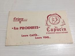 Buvard Ancien LES PRODUITS CAFÉS VINS DU CAPUCIN DUSSOSSOY DOUCHET BETHUNE - Kaffee & Tee