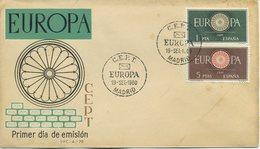 SPAGNA  - FDC  1960 - EUROPA UNITA - CEPT -  ANNULLO SPECIALE - FDC