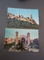 2 Cp ORAN Basilique De Santa Cruz 1962 & La Cathédrale Et La Statue De Jeanne D'Arc 1960 - Oran