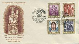SPAGNA  - FDC  1961 - CONSIGLIO D' EUROPA  - ARTE ROMANICA -  ANNULLO SPECIALE - FDC