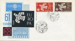 SPAGNA  - FDC ALFIL 1961 - EUROPA UNITA - CEPT -  ANNULLO SPECIALE - FDC