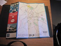 BRUXELLES - EXPO 58 - CARTE ESSO - Mapas