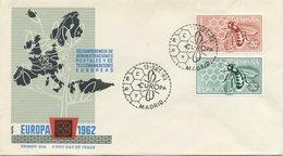 SPAGNA  - FDC ALFIL 1962 - EUROPA UNITA - CEPT -  ANNULLO SPECIALE - FDC