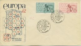 SPAGNA  - FDC SFC 1962 - EUROPA UNITA - CEPT -  ANNULLO SPECIALE - FDC