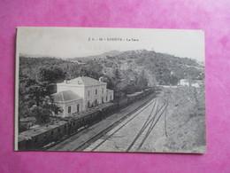 CPA 34 LODEVE LA GARE TRAIN - Lodeve