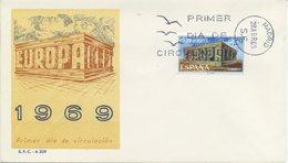 SPAGNA  - FDC SFC 1969 - EUROPA UNITA - CEPT -  ANNULLO SPECIALE - FDC