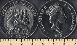 New Zealand 1 Dollar 1990 - New Zealand