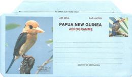 Papua New Guinea - Postal Stationary Aerogram - Lesser-billed Kingfisher (Halcyon Torotoro - Coucous, Touracos