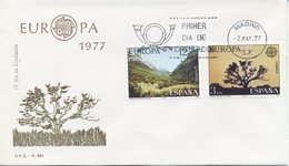SPAGNA  - FDC SFC 1977 - EUROPA UNITA - CEPT -  ANNULLO SPECIALE - TURISMO - FDC