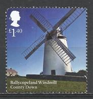 Great Britain 2017. Scott #3618 (U) Ballycopeland Windmill, County Down * - 1952-.... (Elizabeth II)