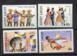 SAINTE-LUCIE ( POSTE ) : Y&T N°  844/847  TIMBRES  NEUFS  SANS  TRACE  DE  CHARNIERE . - St.Lucie (1979-...)