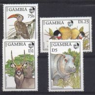GAMBIE ( POSTE ) : Y&T N° 698/701  TIMBRES  NEUFS  SANS  TRACE  DE  CHARNIERE . - Gambie (1965-...)