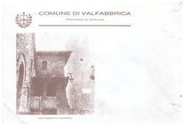 Valfabbrica. Busta Comune Di VALFABBRICA (provinicia Di Perugia), Non Viaggiaata. Araldica - Italy