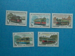 TRANSPORT - Tramway - Série Neuve N° 6177/81 RUSSIE - Tramways