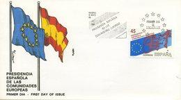SPAGNA  - FDC FLASH 1989 - PRESIDENCIA ESPANOLA DE LAS COMUNIDADES EUROPEAS -  ANNULLO SPECIALE - FDC