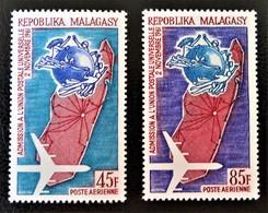2 EME  ANNIVERSAIRE DE L'ADMISSION A L'U.P.U 1963 - NEUFS * - YT PA 93/94 - MI 507/08 - Madagascar (1960-...)