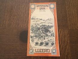 ANCIEN DEPLIANT TOURISTIQUE SONNENBERG-BAHN LUZERN CHEMIN DE FER FUNICULAIRE DE SONNENBERG - Reiseprospekte