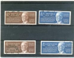 1962 SUEDE Y & T N° 497 - 498 Et 497a - 498b ( O ) Gustaf Adolf - Sweden