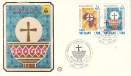 FDC VATICANO 1986 FILAGRANO Unif. 779/82 Congresso Eucaristico Nairobi 85. - FDC