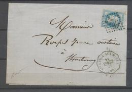 1868 N°29 GC3465 Conv. Station Ste Croix-aux-Mines (Ste M.SCH) HAUT RHIN X4701 - Storia Postale