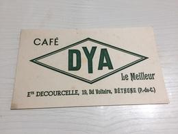 Buvard Ancien CAFÉ DYA DECOURCELLE BETHUNE - Café & Thé