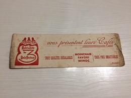 Buvard Ancien HUILE DE TABLE TROIS DOCTEURS - Café & Thé