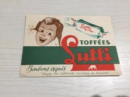 Buvard Ancien BONBONS LUTTI - Cake & Candy