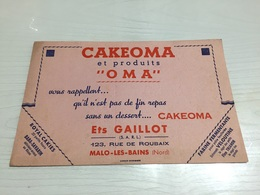 Buvard Ancien CAKEOMA OMA GAILLOT MALO LES BAINS NORD - Sucreries & Gâteaux
