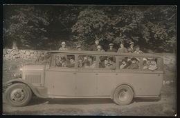 GRAND GARAGE PEYRUCQ LOURDES A GAVERNIE 1929  CARTE PHOTO - Buses & Coaches