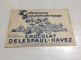 Buvard Ancien CHOCOLAT DELESPAUL HAVEZ BLEU - Chocolat