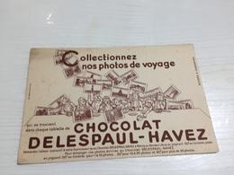 Buvard Ancien CHOCOLAT DELESPAUL HAVEZ MARRON - Chocolat
