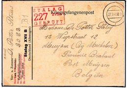 Cp Kriegsgefangenenpost Prisonnier Guerre 1939/45 Stalag XVII B GNEIXENDORF (Wien) + Censure Vers MUIJZEN Mechelen - Documents