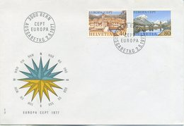 SVIZZERA  - FDC  1977 - EUROPA UNITA - CEPT -  TURISMO  - ANNULLO SPECIALE - FDC