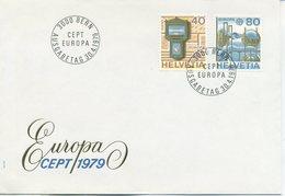 SVIZZERA  - FDC  1979 - EUROPA UNITA - CEPT -  POSTA  - ANNULLO SPECIALE - FDC