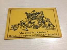 Buvard Ancien CHOCOLAT MENIER LES FABLES DE LA FONTAINE - Chocolat