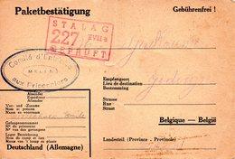 Cp Kriegsgefangenenpost Prisonnier Guerre 1939/45 Stalag XVII B GNEIXENDORF (Wien) + Censure Réception De Colis - Documents