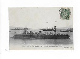 """CPA - """"L'AMIRAL CHARNER"""" , De L'Escadre Internationale En Crête - A. Bougault - Guerre"""