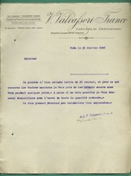 Italie Turin Torino Valvafsori Franco Papeterie Cartiera Di Germagnano 31 01 1908 - Imprimerie & Papeterie
