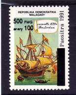 MADAGASCAR  1998  MNH - BATEAU SURCHARGE/ SHIP OVERPRINT - CARAVELLE AMSTERDAM - Madagascar (1960-...)