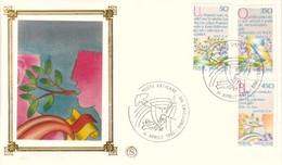 FDC VATICANO 1986 Filagrano Unif. 786/90 Anno Internazionale Della Pace. - FDC